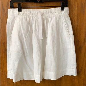 J Crew Linen Drawstring Pocket Skirt (4)